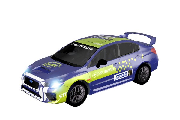 Teknotoys Subaru WRX blau/grün Slot-Car 1:43