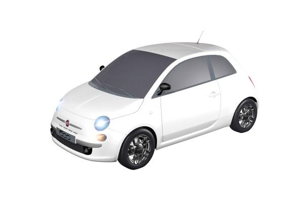 Teknotoys Fiat 500 weiß Slot-Car 1:43