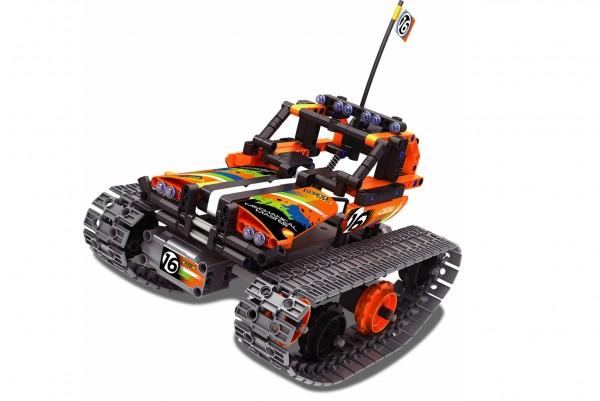 Teknotoys Active Bricks RC Crazy Car Off-Road Ketten-Fahrzeug mit Fernsteuerung