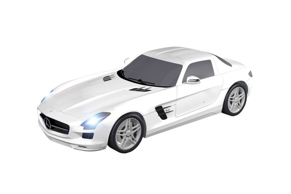 Teknotoys Mercedes-Benz SLS weiß Slot-Car 1:43