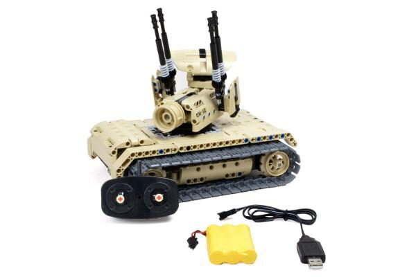 Teknotoys Active Bricks RC Flugabwehrpanzer - Konstruktionsbaukasten mit Fernsteuerung