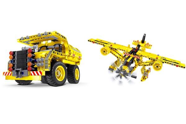 Teknotoys Active Bricks 2in1 Kipplaster & Flugzeug