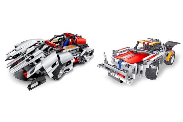 Teknotoys Active Bricks RC 2in1 Sportwagen-Set grau mit Fernsteuerung