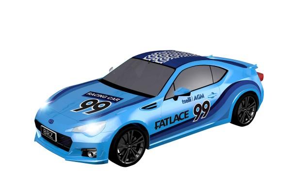 Teknotoys Subaru BRZ blau #99 Slot-Car 1:43