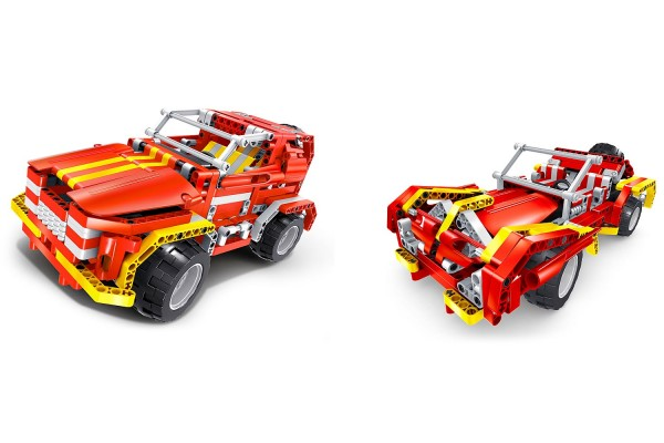Teknotoys Active Bricks RC 2in1 SUV & Roadster rot mit Fernsteuerung