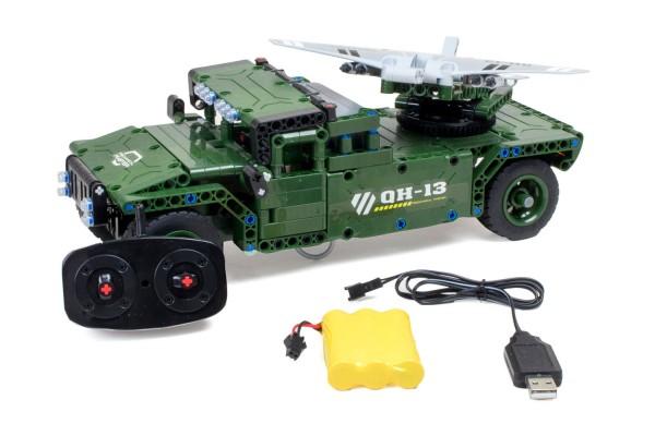 Teknotoys Active Bricks RC UAV Militär-Transporter - Konstruktionsbaukasten mit Fernsteuerung