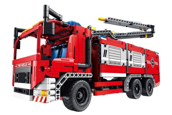 Teknotoys Active Bricks 2in1 Feuerwehrfahrzeug mit Löschkanone
