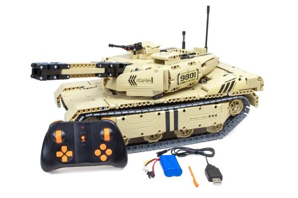 Teknotoys Active Bricks RC Panzer mit Schußfunktion - Konstruktionsbaukasten mit Fernsteuerung
