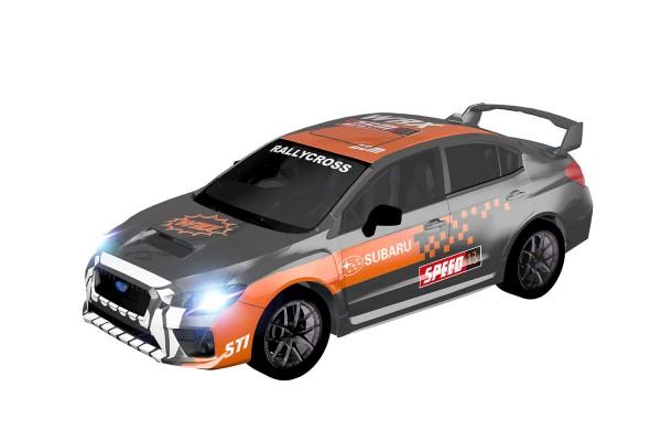 Teknotoys Subaru WRX grau/orange Slot-Car 1:43