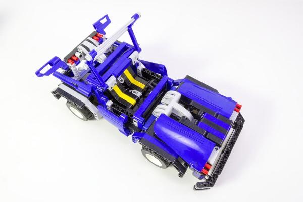 Teknotoys Active Bricks RC 2in1 Cabrio & Limousine blau