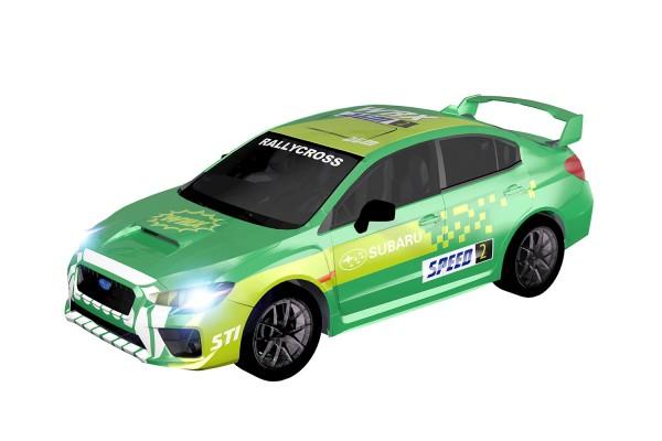 Teknotoys Subaru WRX grün Slot-Car 1:43