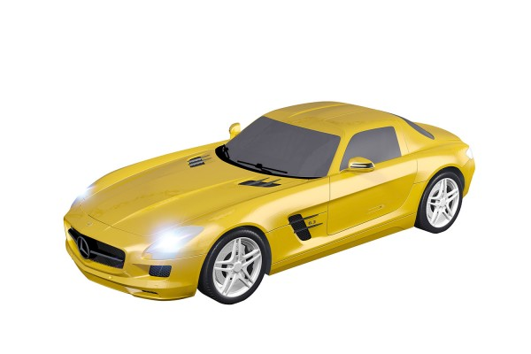 Teknotoys Mercedes-Benz SLS gelb Slot-Car 1:43