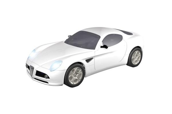 Teknotoys Alfa Romeo 8C weiß Slot-Car 1:43