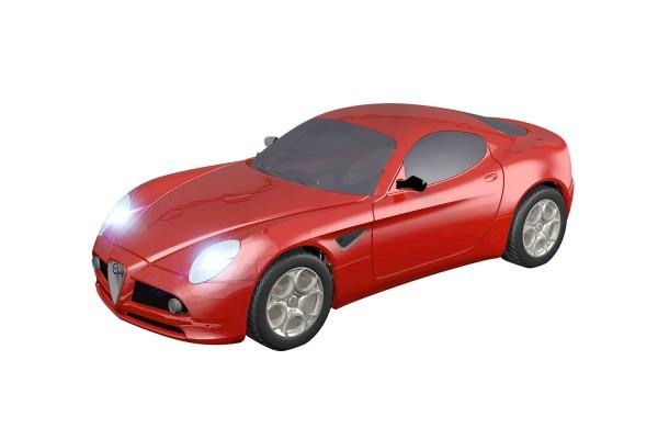 Teknotoys Alfa Romeo 8C rot Slot-Car 1:43