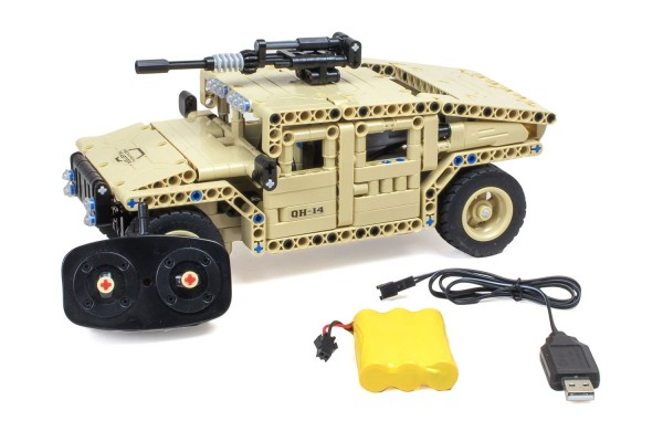 Teknotoys Active Bricks RC Militär Off-Road Fahrzeug - Konstruktionsbaukasten mit Fernsteuerung