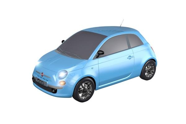 Teknotoys Fiat 500 blau Slot-Car 1:43
